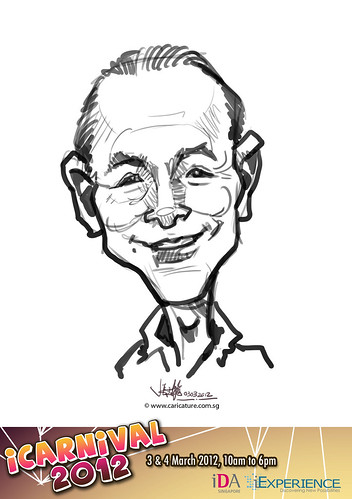 digital live caricature for iCarnival 2012  (IDA) - Day 1 - 19