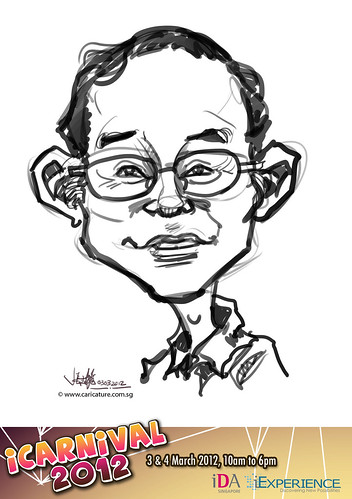 digital live caricature for iCarnival 2012  (IDA) - Day 1 - 49