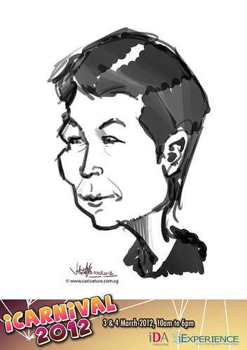 digital live caricature for iCarnival 2012  (IDA) - Day 1 - 71