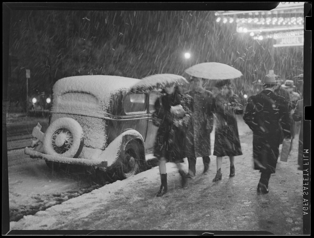 Snowstorm scenes