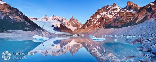 patagonia argentine sunrise losglaciares cerrotorre lagunatorre