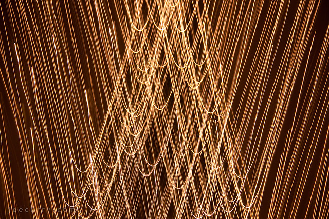 Christmas tree, light painting