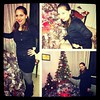 #Dressember | Day 12 - #dressember2012 #dress #black #christmas #tree #lights #grey #boots #challenge