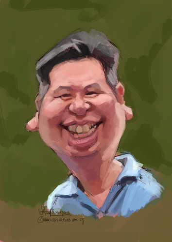 digital caricature of Sam for Hewlett Packard - 2