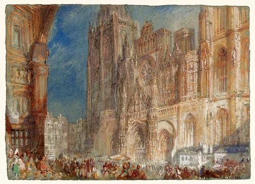 015-Catedral de Rouen-1832- Gouache y acuarela-J. M. W. Turner-via tate.org.uk