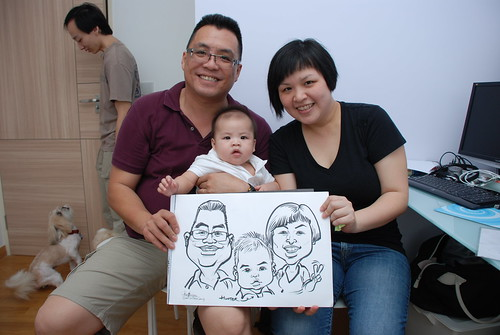 caricature live sketching for birthday party 10032012 - 7