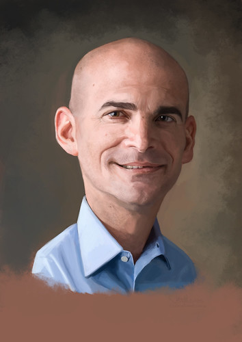 digital caricature of Ronen Samuel for Hewlett Packard (revised)