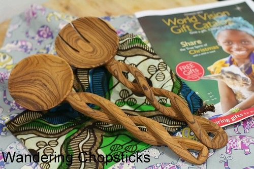 World Vision Hand-Carved Kenyan Olive Wood Serving Spoons Giveaway 3