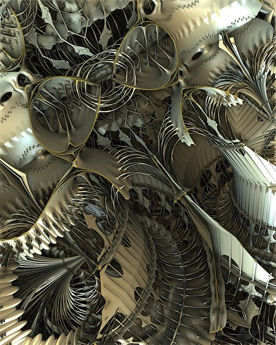 Mandelbulb 3D Parameter: Metallic Fountains | TheDesignspace