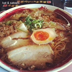 1st time eating by myself in a ramen-ya. Tori-jan #ramen @ makoto-ya #japan