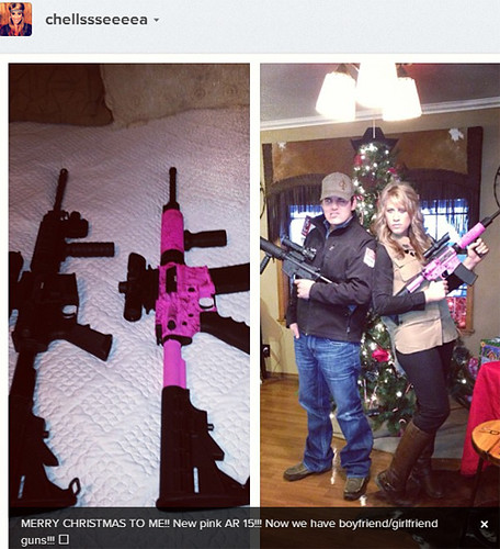 These Americans got AR 15 assault rifles for Christmas