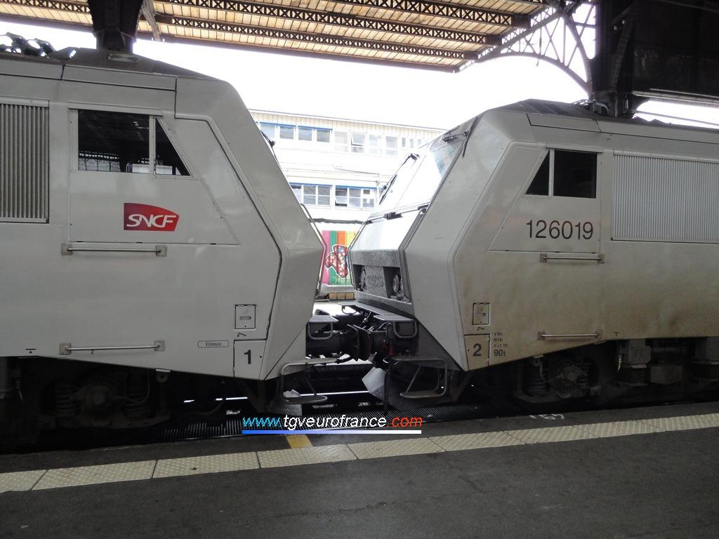 La BB26006 et la BB26019 affectées au dépôt SNCF de Villeneuve Saint-Georges