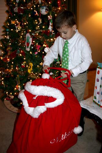 Nat-trying-to-get-into-Santa-bag