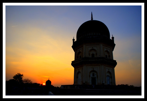 Qutub Shah Tombs in Golden Light