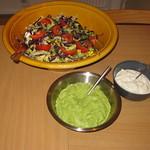 Rådkålsråkost med guacamole