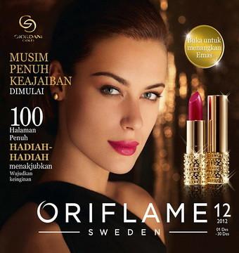 kosmetika alami blogspot Cover Katalog Oriflame C12 Desember 2012