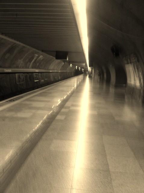 Empty Metro Station in São Paulo