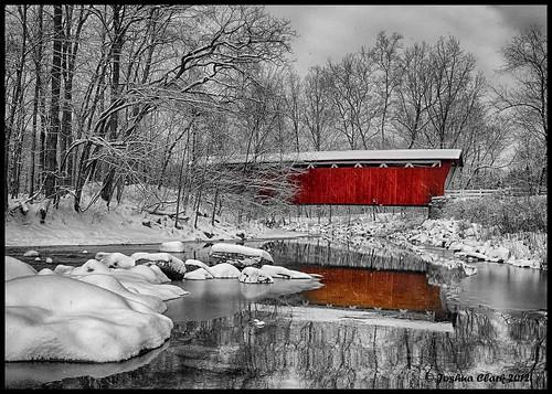 winter ohio 7d coveredbridge 1740mm cuyahogavalleynationalpark winterlandscape cvnp everettroad joshuaclark everettroadcoveredbridge momentsinnature