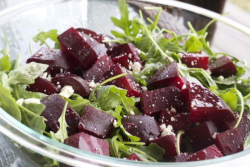 Roasted Beet Salad with Truffle Oil