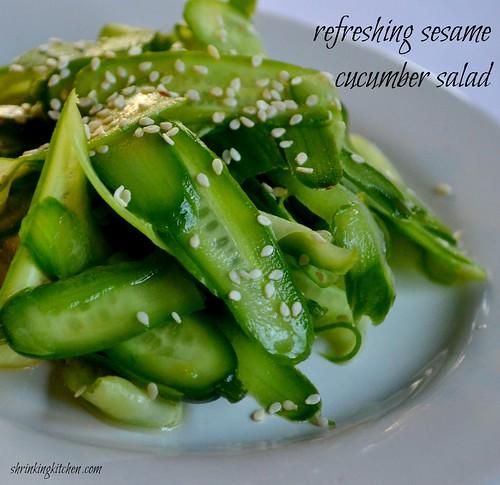 Refreshing Sesame Cucumber Salad - Shrinking Kitchen