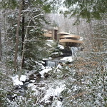 Fallingwater, in the snow
