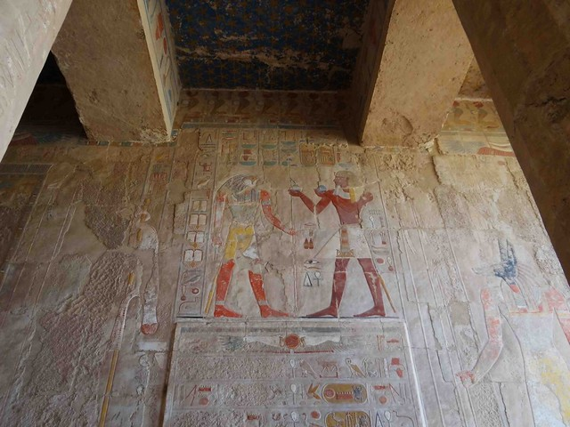 Wall carving at Hatshepsut Temple