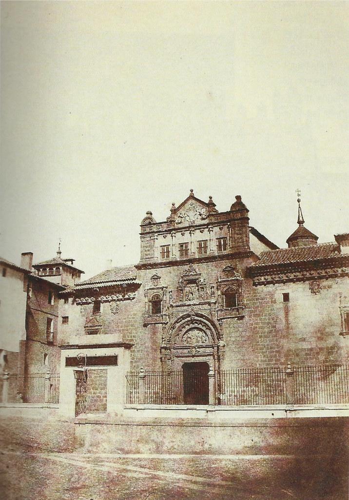 Hospital de Santa Cruz en 1854. Fotografía de Alphonse De Launay
