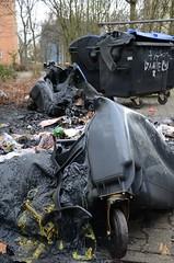 Brennende Mülltonnen in der Silvesternacht - 01.01.13