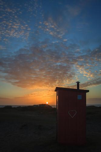 sunset nature canon landscape cloudy wc tamron vänner semester toilett falkenberg 2013 skreastrand jberndes