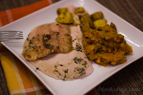 Herb-Roasted Turkey Breast with Butternut Squash Chutney from Cinco de Mayo Salsas