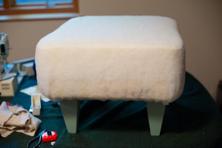 Tutorial for How to Make a DIY Ottoman with Tufted Buttons | How to make an ottoman | Handmade Tufted Ottoman