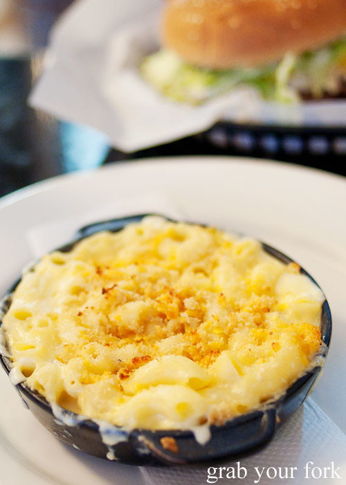 macaroni and cheese at jazz city diner darlinghurst