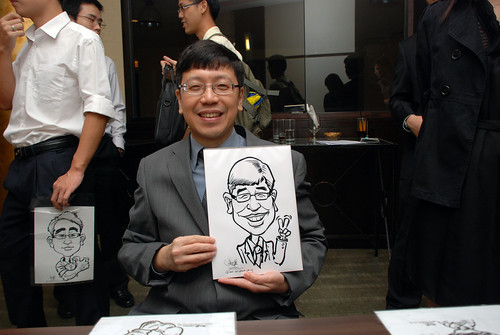caricature live sketching for NUS - 4