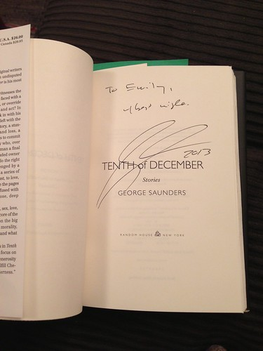 Signed copy of Tenth of December by George Saunders.