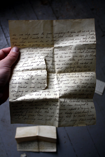 a portion of a letter to Bessie - undated