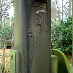 Portal im Jugendstil auf dem Südfriedhof Leipzig