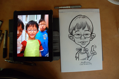 caricature sketching for a birthday party 07072012 - 7