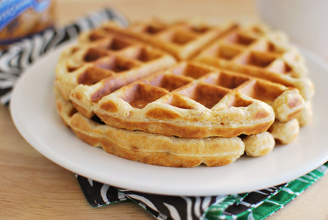 Peanut Butter Waffles - Fake Ginger