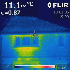Thermal image of our house | by janetmck