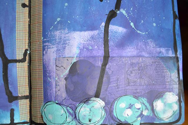 Purple Circles w Manga_closeup