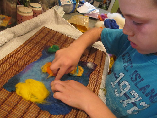 Summer Wet Felting: Solar System#3