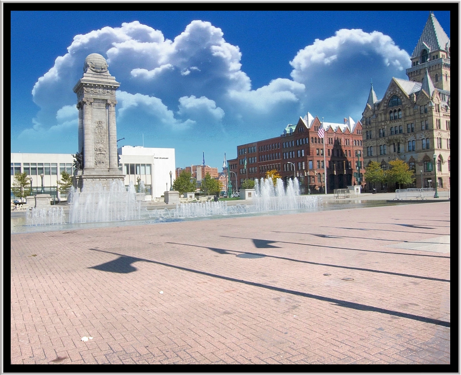 New york onondaga county kirkville - County Ny Newyork Building Tower Clouds Square Canal Site Memorial War Downtown State District Clinton Bank