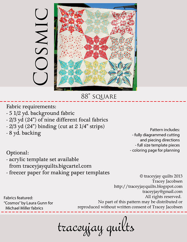 Cosmic pattern back cover