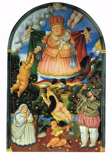 [ B ] Fernando Botero -Heaven (Fresco from Chiesa dekka Misericordia, Pietrasanta) (1993) by Cea.