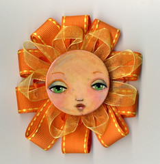 orange flower Girl  001