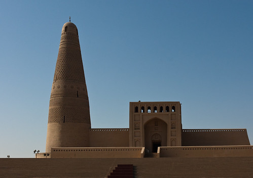 la Ruta de la Seda per Xina minaret de l'emir a Turpan