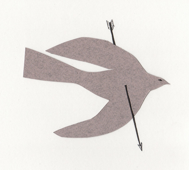 bird with arrow