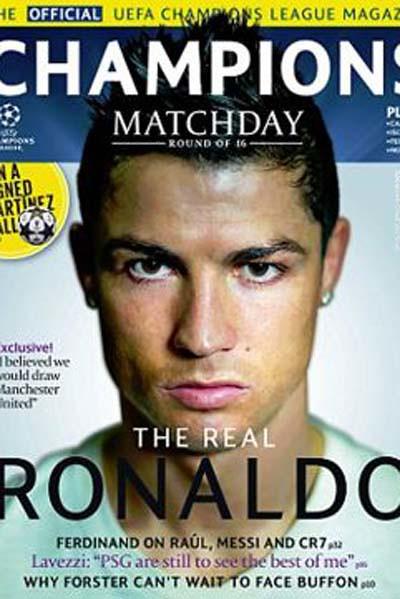 Cristiano Ronaldo Revista Champions