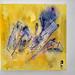 Yellows vs Violets / mixmedia on canvas 30x30 cm