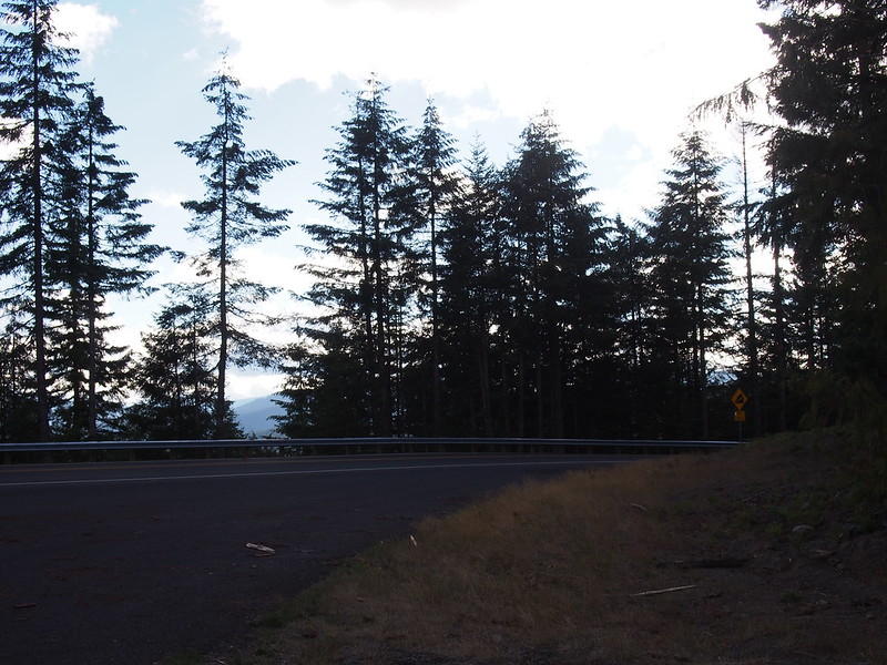 Oldman Pass: A Skamania County sheriff was kind enough to get me all the way up there.